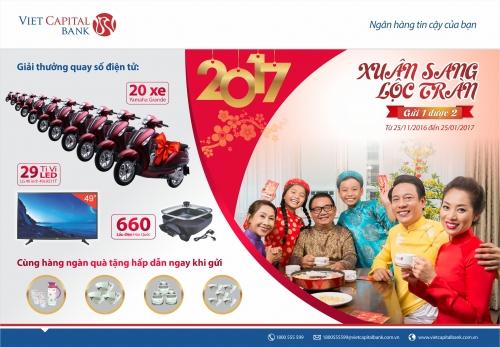 Cơ hội trúng xe Yamaha Grande Deluxe khi gửi tiết kiệm tại Viet Capital Bank