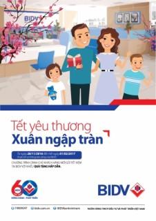 BIDV tặng tiền cho khách gửi tiết kiệm