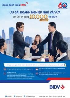 BIDV triển khai gói tín dụng 10 nghìn tỷ đồng ưu đãi DNNVV
