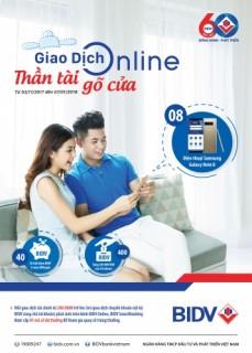 """Giao dịch online nhanh tay cùng BIDV e-Banking và đón ngay """"Thần tài gõ cửa"""""""