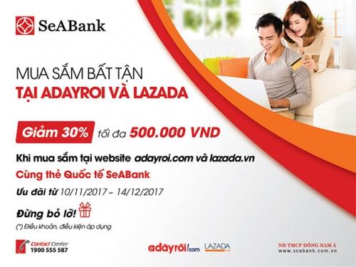 SeABank hoàn tiền tới 30% giá trị thanh toán