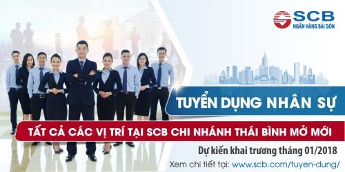 Ngân hàng Sài Gòn tuyển dụng nhân sự tại chi nhánh Thái Bình