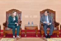 Phó Thống đốc NHNN Đoàn Thái Sơn tiếp Giám đốc điều hành Công ty Mikron