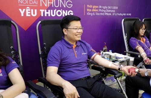 Hàng ngàn nhân viên TPBank tham gia hiến máu nhân đạo