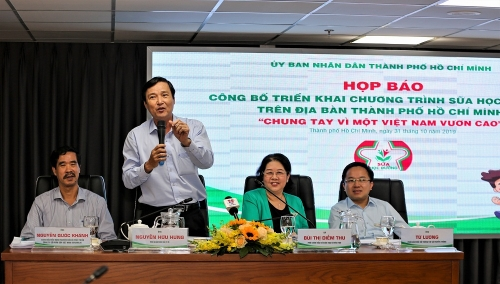 Chương trình sữa học đường tại TP. HCM: Chính thức triển khai tại 10 quận, huyện