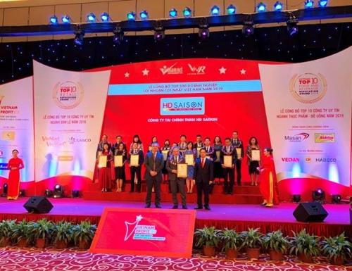 HD SAISON nằm trong Top 500 doanh nghiệp có lợi nhuận tốt nhất Việt Nam