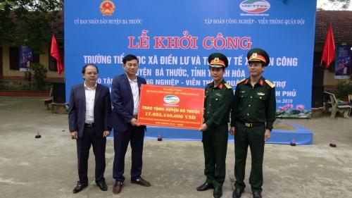 Viettel khởi công các công trình hỗ trợ huyện nghèo Bá Thước (Thanh Hóa)