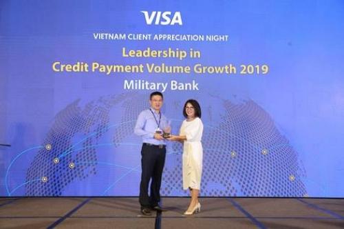 MB dẫn đầu trong tăng trưởng doanh số chi tiêu thẻ tín dụng