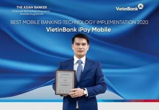 VietinBank iPay trở thành ứng dụng ngân hàng tốt nhất do The Asian Banker bình chọn