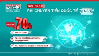 Kienlongbank giảm đến 70% phí chuyển tiền quốc tế đối với đồng USD