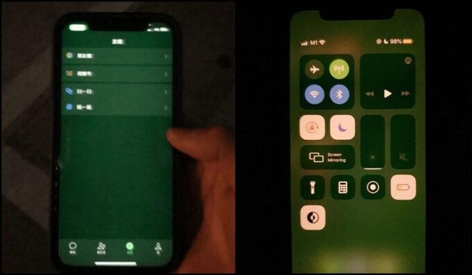 iphone 12 gap loi man hinh xanh