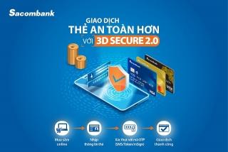 Sacombank nâng cấp côngnghệ bảo mật thanh toán trực tuyến