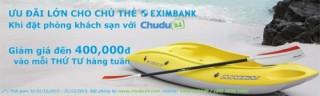 Ưu đãi cho chủ thẻ Visa/MasterCard của Eximbank tại chudu24.com