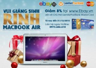 Cơ hội trúng Macbook Air tại eBay.vn cùng thẻ LienVietPostBank MasterCard