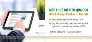 OCB miễn phí thanh toán thuế điện tử cho DN