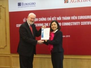 Agribank tham gia mạng lưới chuyển tiền kiều hối Eurogiro