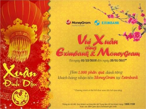 Nhiều ưu đãi khi nhận tiền kiều hối MoneyGram tại Eximbank