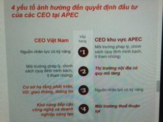 Đâu là sân chơi của các CEO khu vực Châu Á – Thái Bình Dương