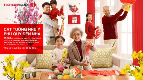 Techcombank triển khai chương trình ưu đãi lớn Xuân Đinh Dậu cho khách gửi tiết kiệm
