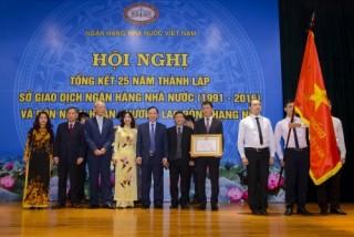 Sở Giao dịch NHNN: Kỷ niệm 25 năm thành lập và đón nhận Huân chương Lao động hạng Nhì