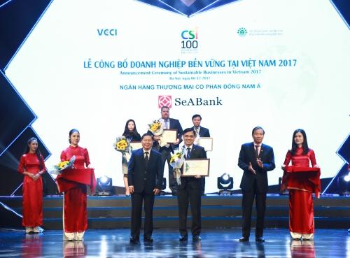SeABank nằm trong top 100 doanh nghiệp phát triển bền vững 2017