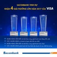 Sacombank nhận cơn mưa giải thưởng từ Visa