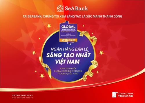 SeABank được tạp chí nước ngoài vinh danh là ngân hàng sáng tạo