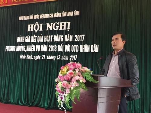 Nợ xấu hệ thống QTDND Ninh Bình chỉ là 0,39%