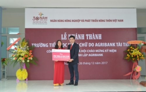 Thêm một trường học khánh thành do Agribank tài trợ