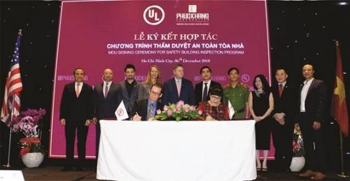 UL và Phúc Khang hợp tác thẩm duyệt an toàn tòa nhà