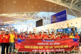 """Vietravel Đà Nẵng """"tiếp lửa"""" cho đội tuyển Việt Nam"""