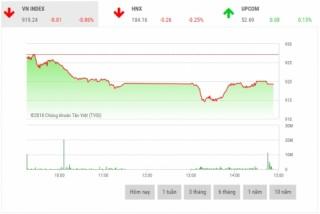 Chứng khoán chiều 19/12: Diễn biến xấu, VN-Index mất mốc 920 điểm