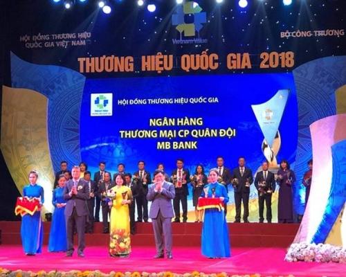 MB vinh dự là ngân hàng đạt Thương hiệu quốc gia năm 2018