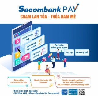 Sacombank Pay - ứng dụng tích hợp nhiều giải pháp tài chính