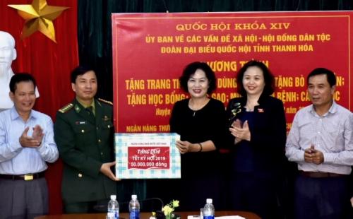 Ngành Ngân hàng tham gia cùng Đoàn công tác của Quốc hội tại huyện Mường Lát