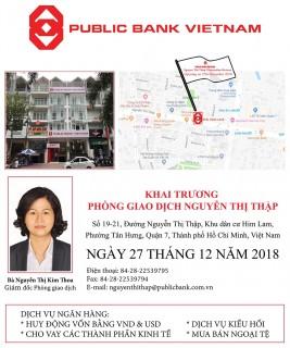 Ngân hàng TNHH MTV Public Việt Nam khai trương Phòng giao dịch Nguyễn Thị Thập