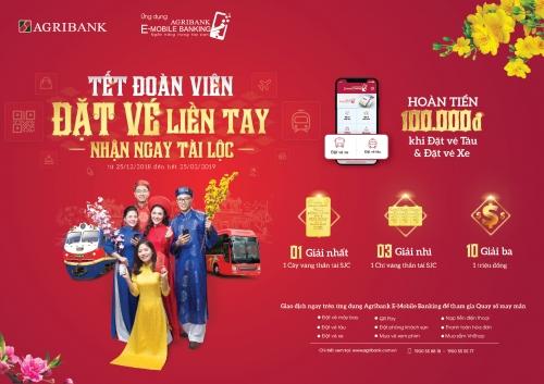 Agribank ưu đãi lớn cho khách sử dụng ngân hàng điện tử