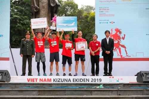 dai ichi life tiep tuc la nha tai tro vang cho giai chay tiep suc vietnam kizuna ekiden 2019