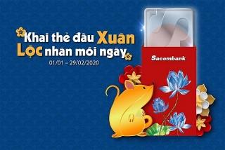 Hoàn tiền mua sắm cho chủ thẻ Sacombank