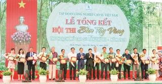 Agribank Sài Gòn tài trợ Hội thi Bàn tay vàng thu hoạch mủ cao su