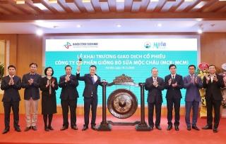 Sữa Mộc Châu chính thức giao dịch trên thị trường UPCOM