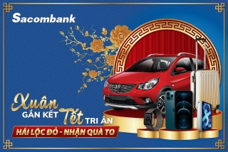 """Sacombank tặng khách hàng 8 xe ô tôtrong chương trình """"Xuân gắn kết - Tết tri ân"""""""