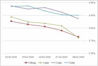 Thị trường TPCP ngày 8/1: Lãi suất thực hiện dao động trong biên độ hẹp