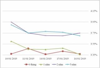 Thị trường TPCP ngày 16/1: Lãi suất thực hiện giảm mạnh ở kỳ hạn 30 năm