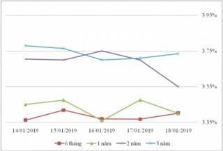 Thị trường TPCP ngày 18/1: Lãi suất thực hiện dao động trong biên độ hẹp
