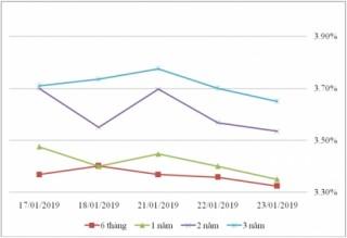 Thị trường TPCP ngày 23/1: Lãi suất thực hiện kỳ hạn 3-5 năm và 10-15 năm tăng đột biến