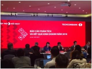 Techcombank công bố nhiều thông tin ấn tượng