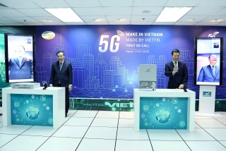 Viettel thực hiện cuộc gọi 5G đầu tiên trên thiết bị do Việt Nam sản xuất