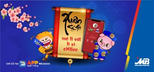 Lì xì online trên App MBBank