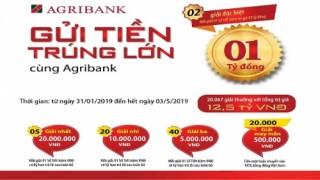Gửi tiền trúng lớn cùng Agribank